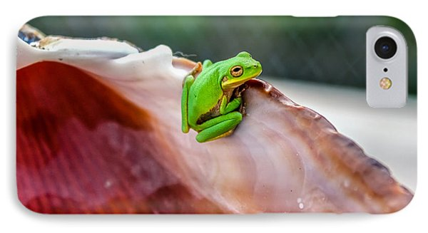 IPhone Case featuring the photograph Frog In A Cockle by Rob Sellers