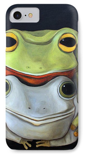 Frog Love-the Embrace IPhone Case by Leah Saulnier The Painting Maniac