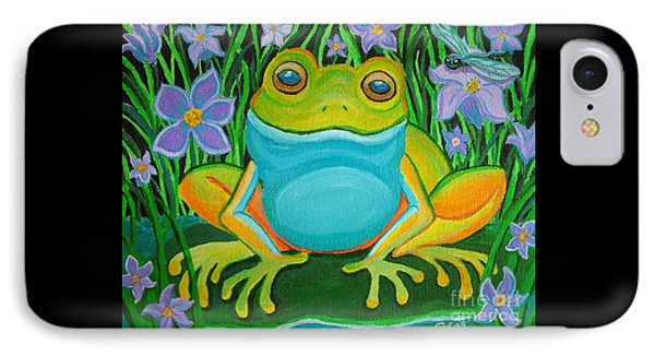 Frog On A Lily Pad IPhone Case by Nick Gustafson