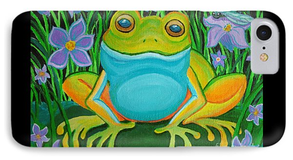 Frog On A Lily Pad Phone Case by Nick Gustafson