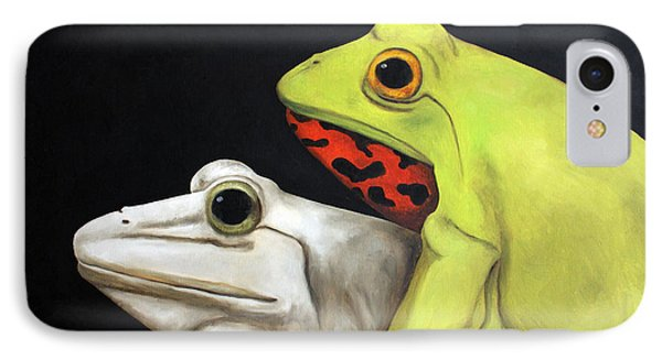 Froggy Style Edit 2 IPhone Case by Leah Saulnier The Painting Maniac