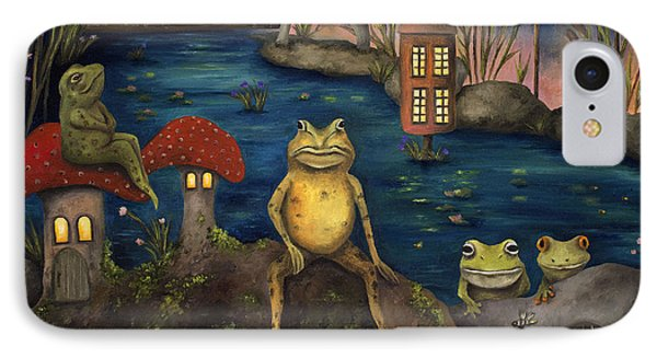 Frogland Phone Case by Leah Saulnier The Painting Maniac