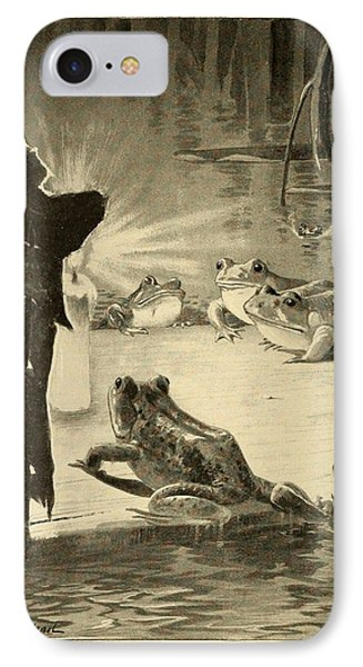 Frogs And Candle Phone Case by Philip Ralley