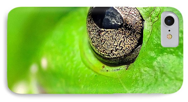 Frog's Eye Phone Case by Kaye Menner
