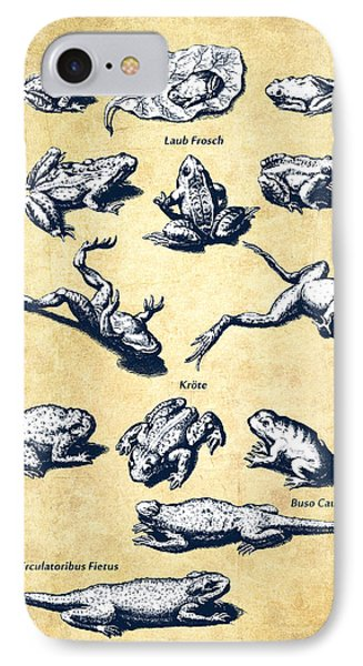 Frogs - Historiae Naturalis - 1657 - Vintage IPhone Case