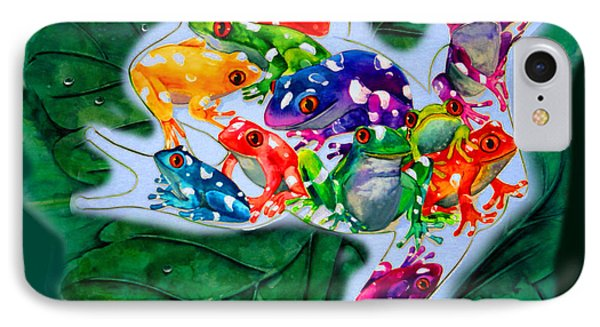 Frogs Phone Case by Sherry Shipley