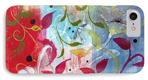 IPhone Case featuring the painting Frolic by Robin Maria Pedrero
