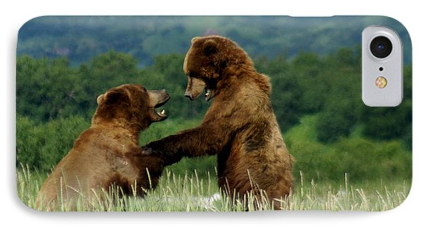 Frolicking Grizzly Bears Phone Case by Patricia Twardzik