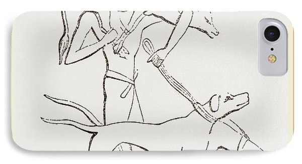 From An Egyptian Painting IPhone Case by Litz Collection