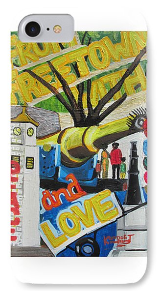 From Freetown With Peace And Love Phone Case by Mudiama Kammoh