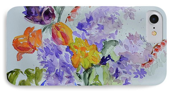 IPhone Case featuring the painting From Grammy's Garden by Beverley Harper Tinsley