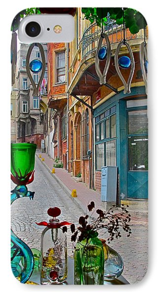 From The Glass-maker's Window IPhone Case by Ayse Taskiran