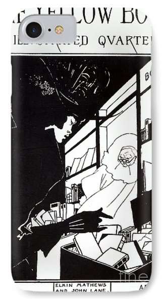 Front Cover Of The Prospectus For The Yellow Book Phone Case by Aubrey Beardsley