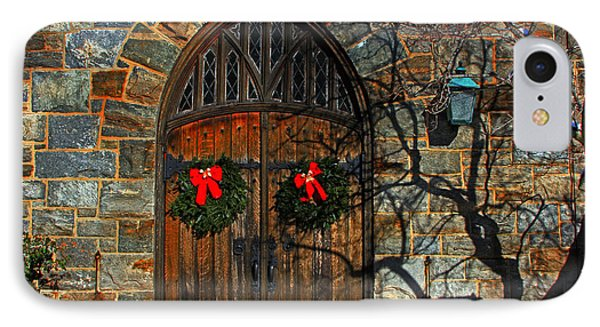 Front Door To Baldwin Memorial United Methodis IPhone Case by Andy Lawless