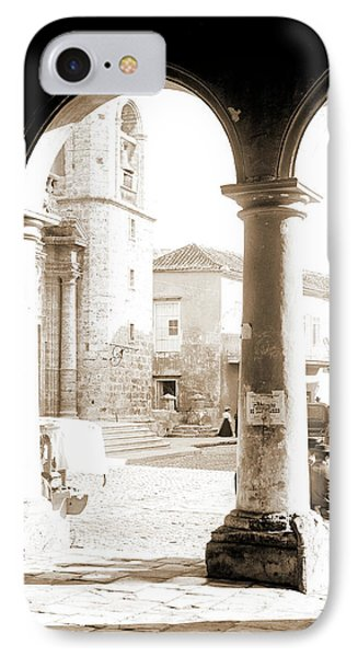 Front Of Cathedral, A Bit Of Old Havana, Cuba, Cathedrals IPhone Case by Litz Collection