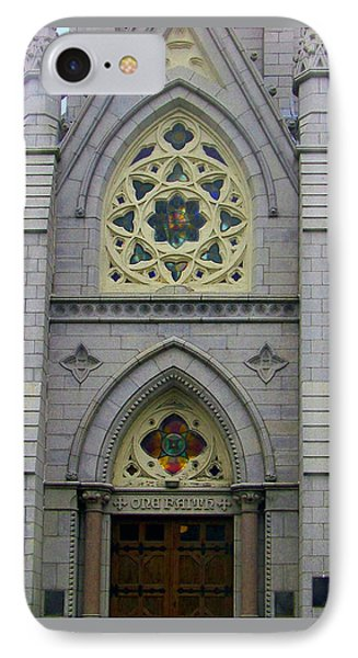 IPhone Case featuring the photograph Front Of Church by Gena Weiser