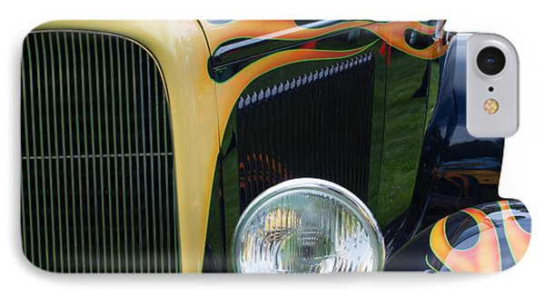 IPhone Case featuring the photograph Front Of Hot Rod Car by Gunter Nezhoda
