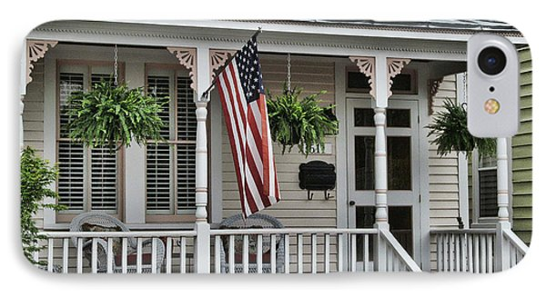 Front Porch Flag Phone Case by Victor Montgomery