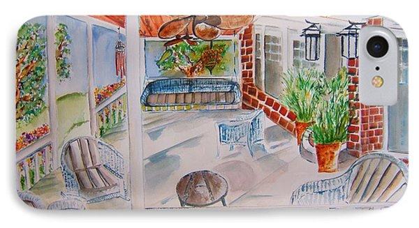 Front Porch Sitting Phone Case by Elaine Duras