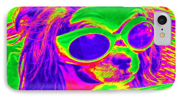 Front Seat Driver Pop Art - Puppy Mania IPhone Case by Ella Kaye Dickey