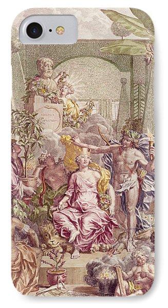 Frontispiece Of Hortus Cliffortianus IPhone Case by Jan Wandelaar