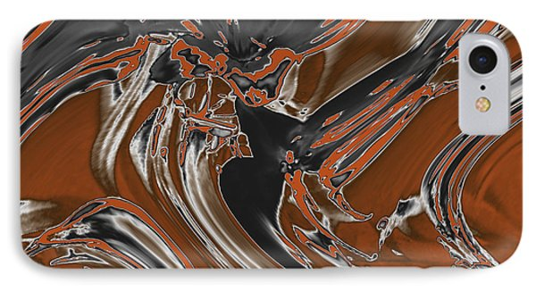 IPhone Case featuring the digital art Frost And Woodsmoke  by Judi Suni Hall