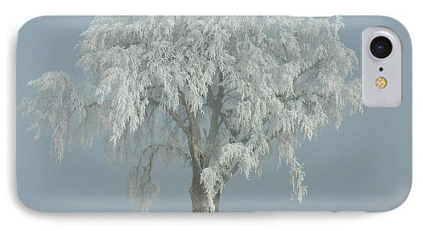 IPhone Case featuring the photograph Frost Covered Lone Tree by Penny Meyers