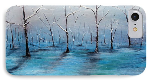 IPhone Case featuring the painting Frost Like Ashes by Meaghan Troup