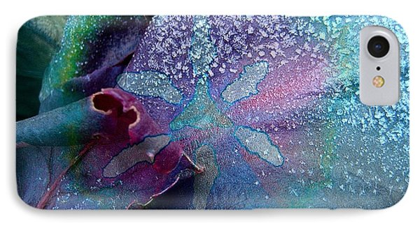 Frost On Turquoise Phone Case by Shirley Sirois