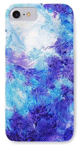 Frosted Blues Fantasy I IPhone Case by Irina Sztukowski