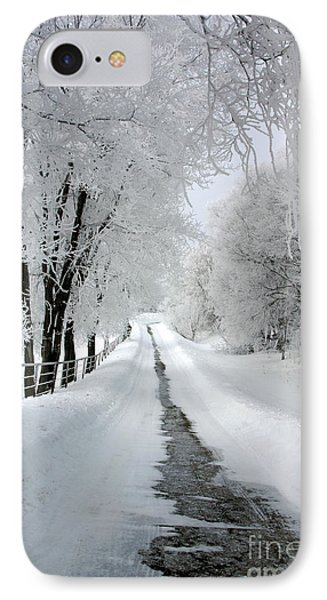 The Long Frosted Road IPhone Case