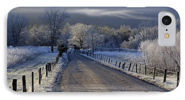Frosty Cades Cove Hdr Phone Case by Douglas Stucky