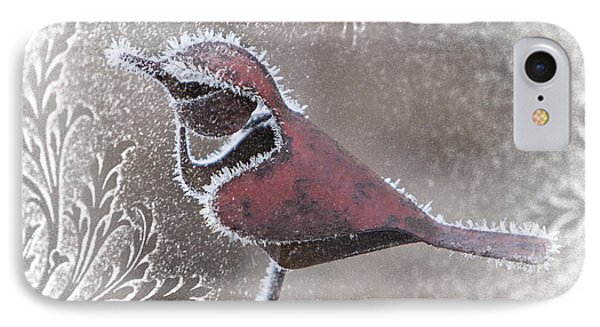 IPhone Case featuring the photograph Frosty Cardinal by Patti Deters