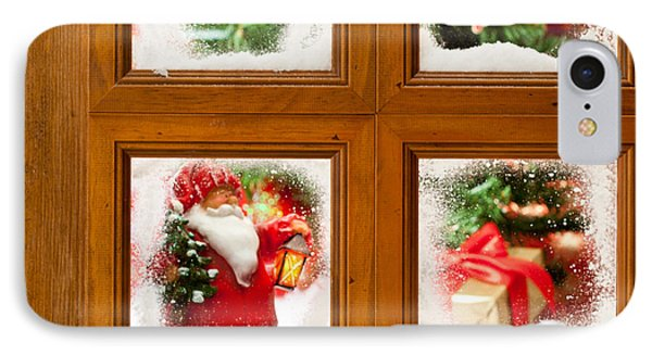 Frosty Christmas Window IPhone Case by Amanda Elwell