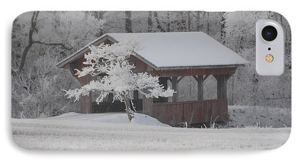 Frosty Day Bridge IPhone Case