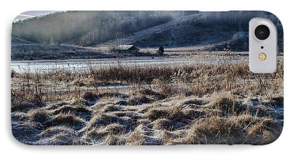 Frosty Farm Morning IPhone Case by Sven Brogren
