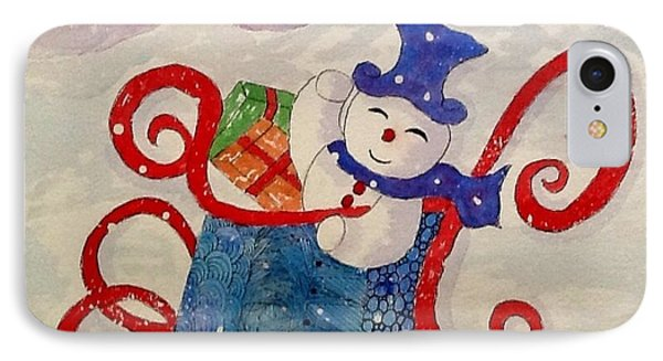 Frosty In His Sleigh2 IPhone Case