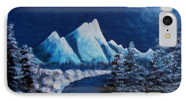 Frosty Night In The Mountains Phone Case by Barbara Griffin