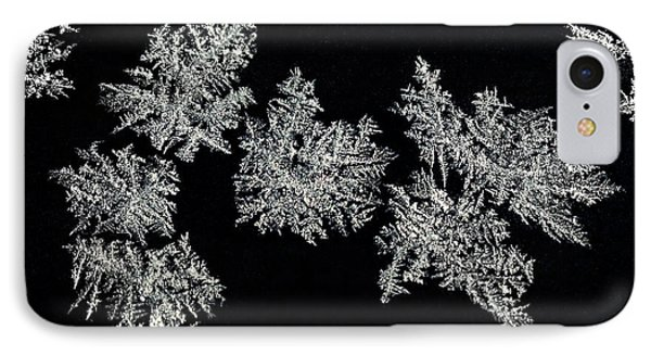 Frosty Snowflakes Phone Case by Mariola Bitner