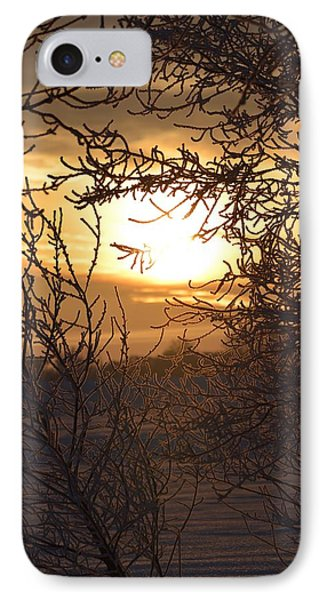 IPhone Case featuring the photograph Frosty Sunrise by Dacia Doroff