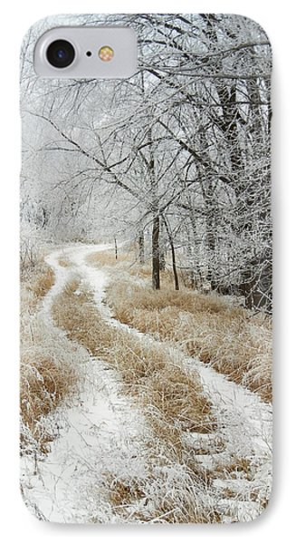 Frosty Trail IPhone Case by Penny Meyers