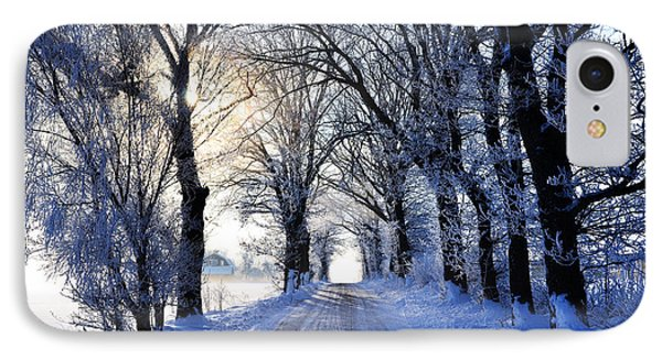 IPhone Case featuring the photograph Frozen Alley by Kennerth and Birgitta Kullman