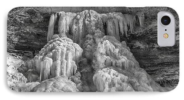 IPhone Case featuring the photograph Frozen Cascades by Alan Raasch