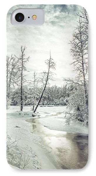 Frozen Creek At Sunset IPhone Case