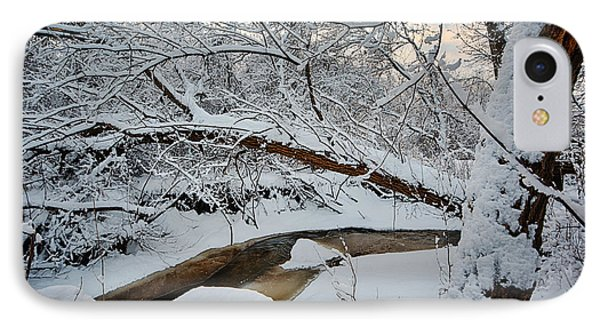 Frozen Creek IPhone Case by Sebastian Musial