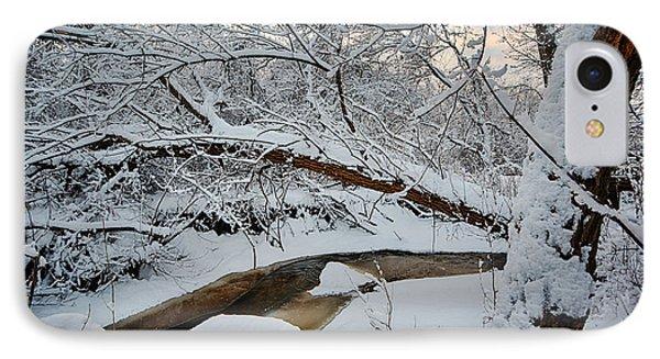 Frozen Creek IPhone Case by Sebastian Musial
