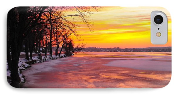IPhone Case featuring the photograph Frozen Dawn At Lake Cadillac  by Terri Gostola