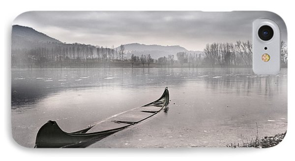 Boat iPhone 7 Case - Frozen Day by Yuri Santin