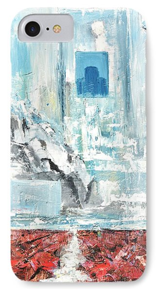 IPhone Case featuring the painting Frozen by Evelina Popilian