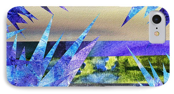 Frozen  Landscape Abstract Collage IPhone Case by Irina Sztukowski
